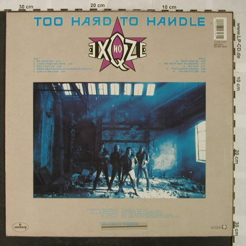 No Exqze: Too Hard To Handle, Mercury(834 743-1), NL, stoc, 1988 - LP - H5339 - 6,00 Euro