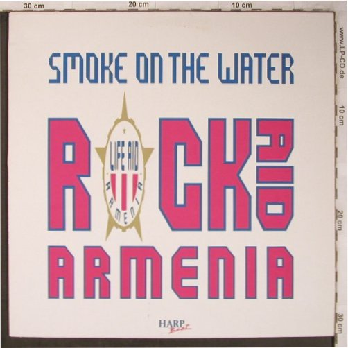 Rock Aid Armenia: Smoke on the Water/Paranoid,stoc, Life Aid Armenia Rec.(Armen T001), F, m-/vg+, 1989 - 12inch - X5283 - 6,00 Euro