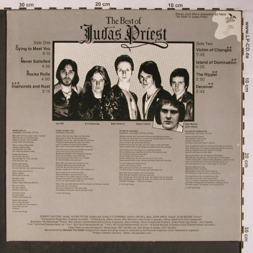 Judas Priest: The Best Of, Gull, Club Ed.(32 758 5), D, 1978 - LP - X6069 - 7,50 Euro