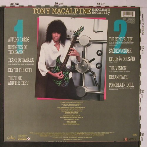 Macalpine,Tony: Maximum Security, Squawk Records(832 249-1), NL, 1986 - LP - X6184 - 7,50 Euro