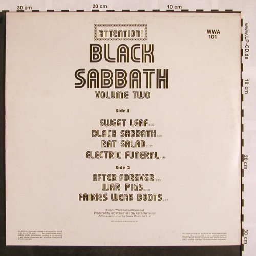 Black Sabbath: Attention! Vol.2, WWA(WWA 101), UK,  - LP - X811 - 20,00 Euro