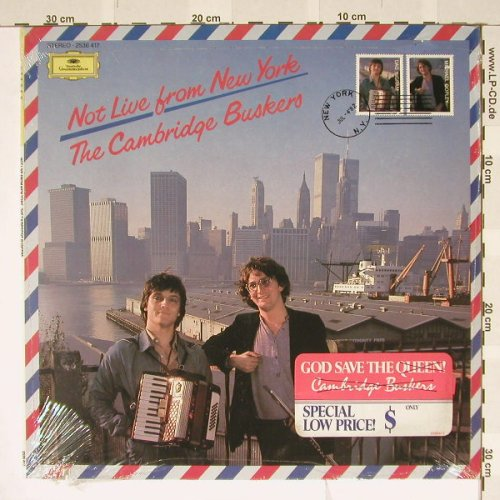 Cambridge Buskers: Not Live from New York, FS-New, D.Gr.(2536 417), D, co, 82 - LP - B3533 - 5,00 Euro