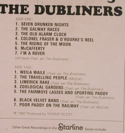 Dubliners: Seven Drunken Nights, EMI/Starline(SRS 5059), UK,  - LP - F7931 - 5,00 Euro