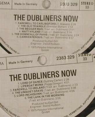 Dubliners: The Dubliners Now, Musterplatte, Polydor,vg+/NoCover(2383 329), D, 1975 - LP - H2344 - 7,50 Euro