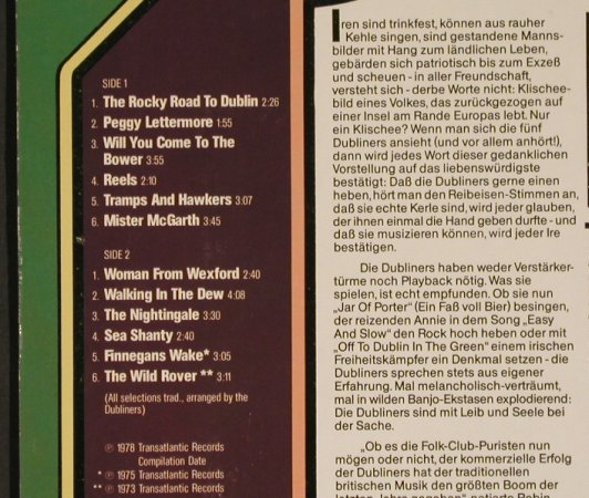 Dubliners: The Original Vol.2, TransAtlantic(0044.012), D, 1978 - LP - H7841 - 5,00 Euro