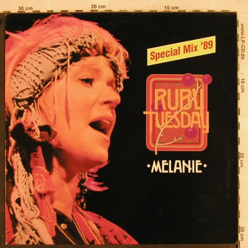 Melanie: Ruby Tuesday,sp.mx89/radio/Show you, Baierle(572 61 011 AD), D, 1989 - 12inch - H9986 - 3,00 Euro