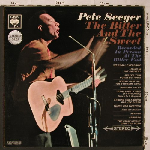 Seeger,Pete: The Bitter And The Sweet, CBS(SBPG 62488), UK, 1965 - LP - X2003 - 7,50 Euro