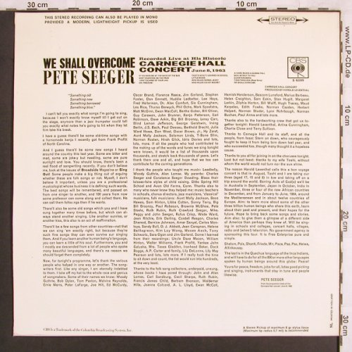 Seeger,Pete: We Shall Overcome, CBS(S 62 209), D, 1963 - LP - X3234 - 7,50 Euro