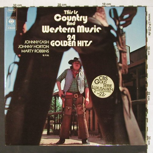 V.A.This Is Country & Western: 24 Golden Hits,Foc, CBS(66248), D,  - 2LP - A5318 - 4,00 Euro