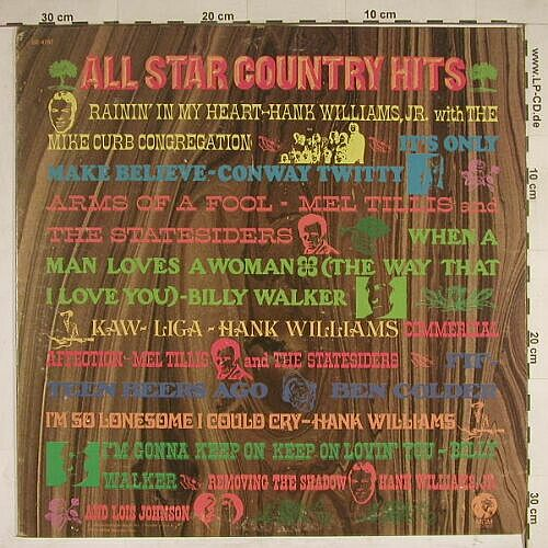 V.A.All Star Country Hits: 10 Tr., MGM(SE-4787), US, 71 - LP - A8177 - 5,00 Euro