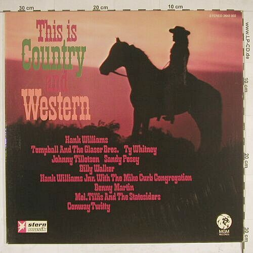 V.A.This Is Country & Western: 24 Golden Hits,Foc, Stern-Ed., MGM(2642 002), D,  - 2LP - A8178 - 4,00 Euro