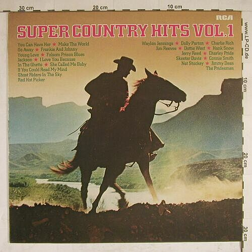 V.A.Super Country Hits Vol.1: 12 Tr., RCAorange(CL 42844), D, 79 - LP - A8187 - 4,00 Euro