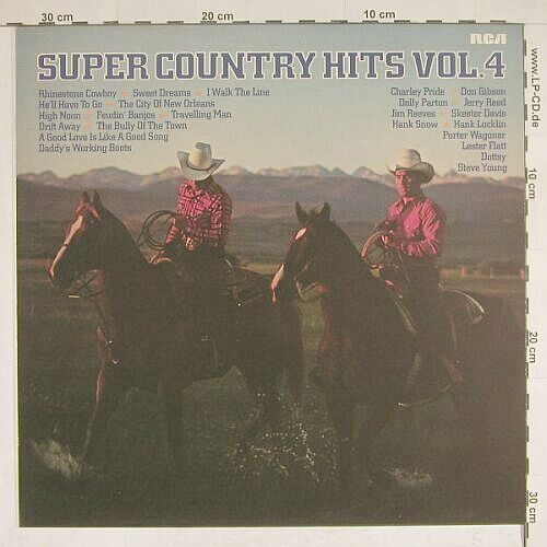 V.A.Super Country Hits Vol.4: 12 Tr., RCAorange(CL 42847), D, 79 - LP - A8190 - 4,00 Euro