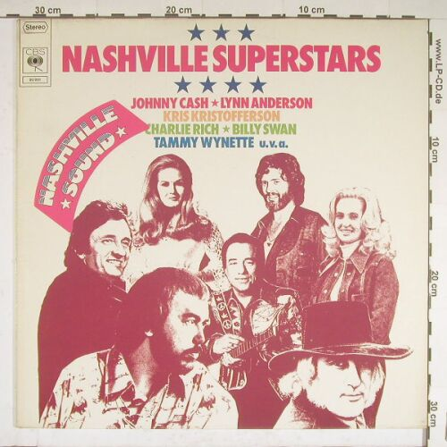 V.A.Nashville Superstars: 20 Tr., CBS(80 951), NL, 75 - LP - A9050 - 3,00 Euro