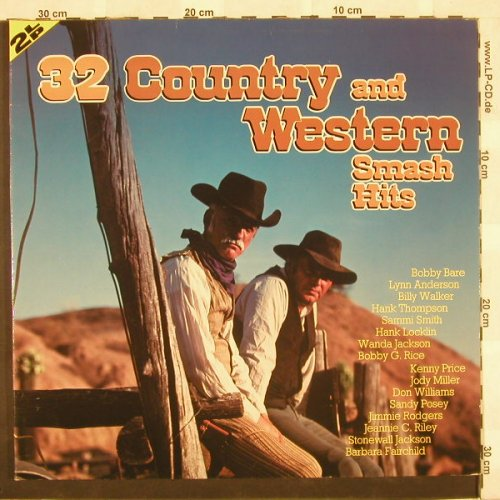 V.A.32 Country & Western Smash Hits: 32 Tr., Foc, LookBack(120001-1), D,  - 2LP - B9705 - 6,00 Euro