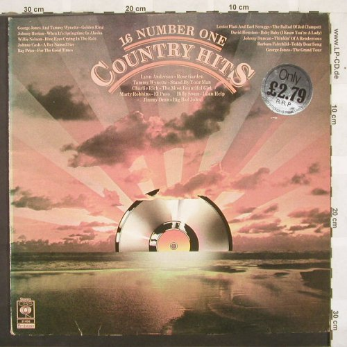 V.A.16 Number One Country Hits: 16 Tr., m-/vg+, CBS(31456), UK, 77 - LP - C224 - 4,00 Euro