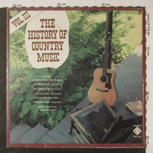 V.A.The History of Country Music: Vol.III, 15 Tr., Radiant(RRC-1013), US,  - LP - C4749 - 5,00 Euro