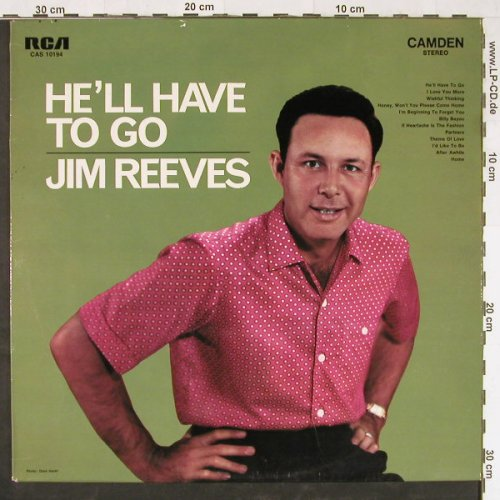 Reeves,Jim: He'll Have To Go, RCA(CAS 10 194), D,  - LP - E1672 - 5,00 Euro