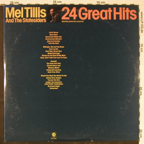 Tillis,Mel & Statesiders: 24 Great Hits, MGM(MG-2-5402), US, 1977 - 2LP - E1779 - 7,50 Euro