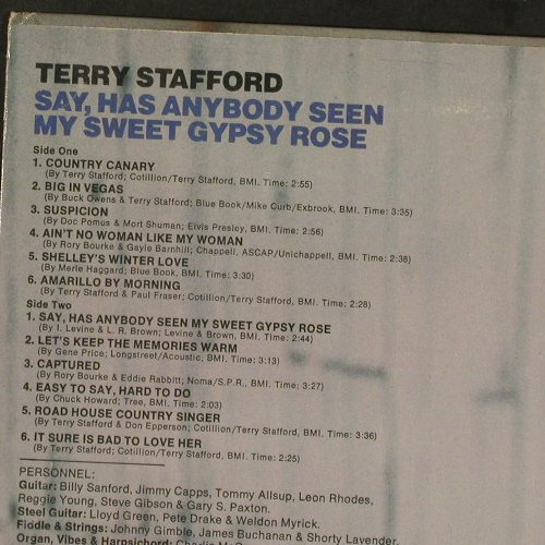 Stafford,Terry: Say,Has Anybody Seen My Sweet Gypsy, Atlantic(SD 7282), US, 1973 - LP - E4392 - 14,00 Euro