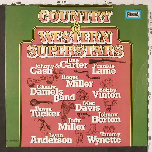 V.A.Country & Western Superstars: J.Cash...Roger Niller, 12 Tr., Europa(111 405.0), D,  - LP - E6180 - 4,00 Euro