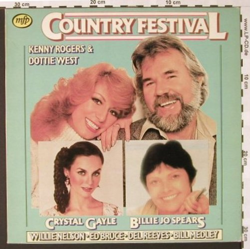 V.A.Country Festival: Kenny Rogers,Dottie West..., MFP(1a022-58070), D, 1980 - LP - E6763 - 4,00 Euro