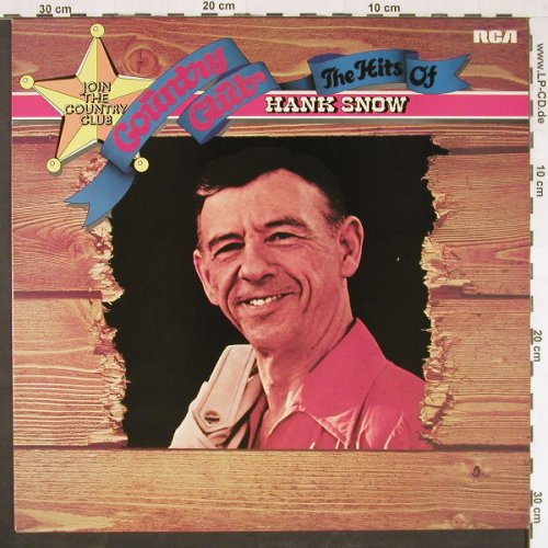 Snow,Hank: Country Club-The Hits Of, RCA(26.21718), D, 1976 - LP - E999 - 5,00 Euro