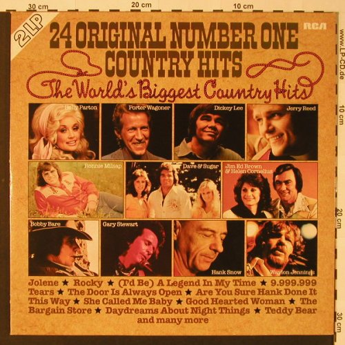 V.A.24 Original Number One Country: Hits,Foc, RCA(CL 42346), D, 1978 - 2LP - F2623 - 5,00 Euro