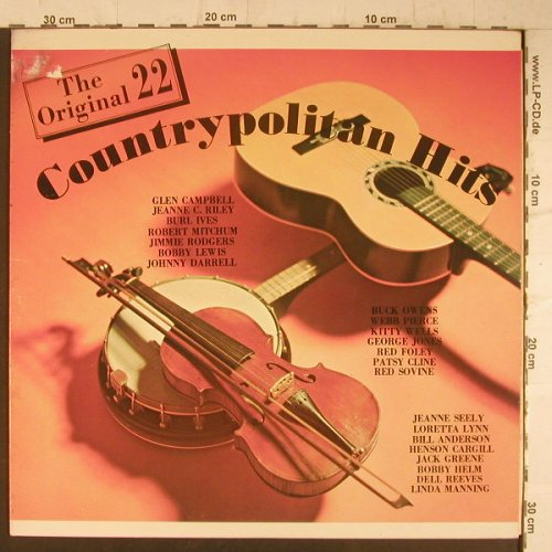 V.A.Countrypolitan Hits: The Original 22, m-/vg+, Countrypolitan(1100), US,  - LP - F6508 - 5,00 Euro