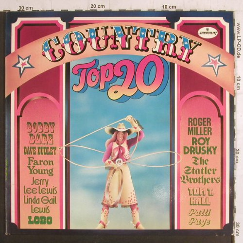 V.A.Country Top 20: Faron Young...Dave Dudley, Mercury(6641 049), D,+Poster, 1972 - 2LP - F6548 - 7,50 Euro