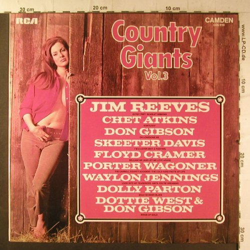 V.A.Country Giants Vol.3: 12 Tr., woc, RCA(CDS 1119), UK,  - LP - F6615 - 4,00 Euro