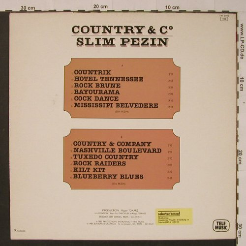 Slim Pezin: Country & C°, Telemusic(TM 3102), F, 1985 - LP - F7765 - 6,00 Euro