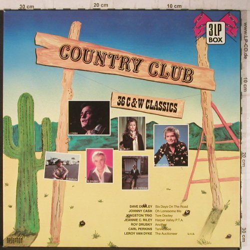 V.A.Country Club: Jimmy Dean ... Carl Perkins, Box, Bellaphon(3003), D, 1985 - 3LP - F8137 - 7,50 Euro