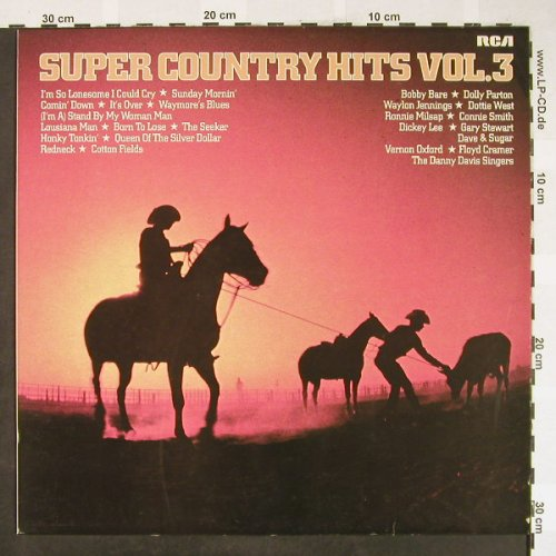 V.A.Super Country Hits Vol.3: Bobby Bare...Floyd Cramer, 12 Tr., RCA(CL 42840), D, 1979 - LP - H1819 - 5,00 Euro