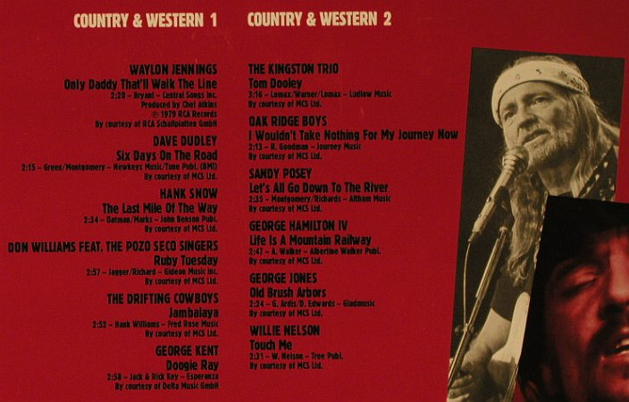 V.A.Country & Western -Int.Edition: Memphis, Foc, red vinyl, Ariola(206 725-000), D, 1985 - LP - H2396 - 5,00 Euro