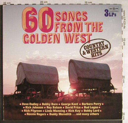 V.A.60 Songs from the golden West: Country & Western Hits, Foc², SR(32 961 5), D, 1981 - 3LP - H242 - 7,50 Euro