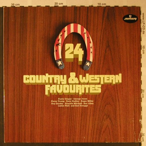 V.A.24 Country and Western Favorite: Rusty Draper...Faron Young, Foc, Mercury(9072 206), D,  - 2LP - H2492 - 6,00 Euro
