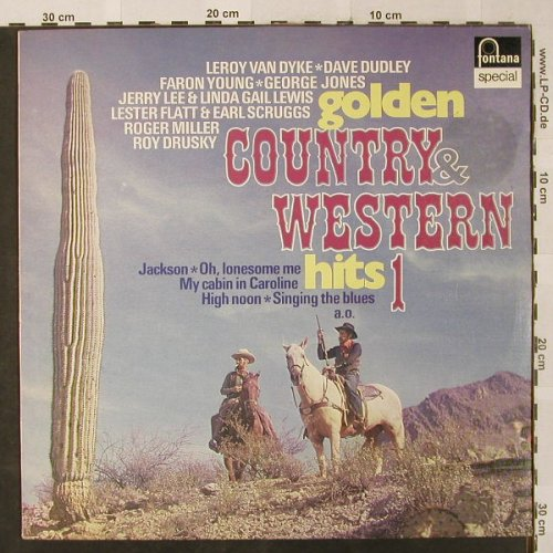 V.A.Golden Country & Western Hits 1: Roy Drusky,Faron Young,G.Jones..., Fontana Special(6430 034), NL, 12Tr.,  - LP - H2553 - 5,00 Euro