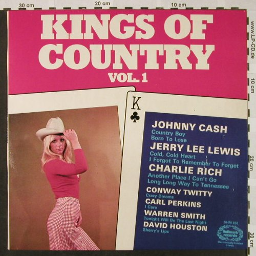 V.A.Kings Of Country: Vol.1 - Johnny Cash...Warren Smith, Hallmark(SHM 856), UK,  - LP - H4641 - 5,00 Euro