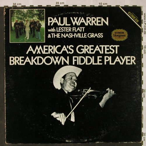 Warren,Paul w.Lester Flatt&Nashv.Gr: America's Gr. Breakdown Fiddle Play, CMH(CMH-6237), US,vg+/VG+, 1979 - LP - H4720 - 7,50 Euro