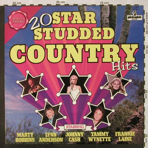 V.A.20 Star Studded Country Hits: Marty Robbins,Lynn Anderson,Cash..., Pickwick/Limited Edition(PLE 7003), UK,  - LP - H4811 - 5,00 Euro