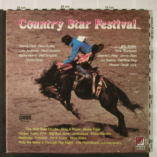 V.A.Country Star Festival: Jeannie C.Riley...Kenny Price, Box, Delta(DK 29 038), D,  - 3LP - H4817 - 6,50 Euro