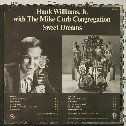 Williams Jr.,Hank w Mike Curb Congr: Sweet Dreams, CO, vg+/vg+, MGM(SE-4798), US,  - LP - H4821 - 6,00 Euro