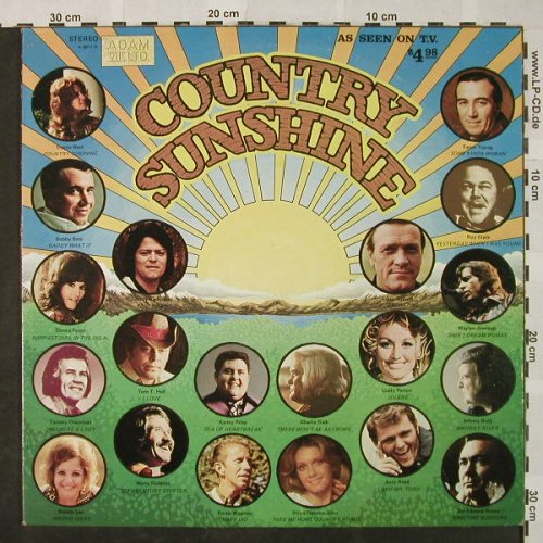 V.A.Country Sunshine: Dottie West...Jim Edward Brown, Adam VIII LTD.(A 8011 R), US, Co, 1974 - LP - H4829 - 6,00 Euro