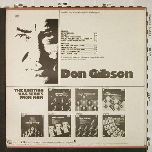 Gibson,Don: Same-Golden Archive Serie, MGM(GAS-138), US, Co,  - LP - H4835 - 5,00 Euro