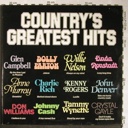 V.A.Country's Greatest Hits: Kenny Rogers...Billie Jo Spears, Atlantic GAP(CGH1), UK, 1985 - 2LP - H5558 - 6,00 Euro