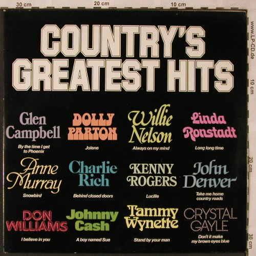 V.A.Country's Greatest Hits: Kenny Rogers...Billie Jo Spears,Foc, Atlantic Gap(AGR101), IRE/UK,  - 2LP - X2451 - 5,50 Euro