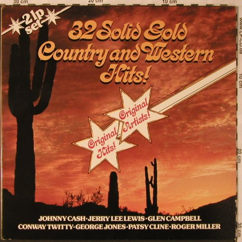 V.A.32 Solid Gold Country&WesternH.: Johnny Cash, George Jones..., Foc, BRC(310631), D, Club Ed, 1980 - 2LP - X2738 - 5,00 Euro