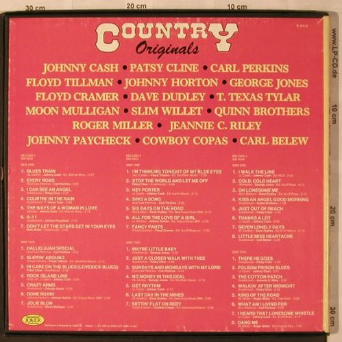 V.A.Country Originals: Johnny Cash...Roger Miller, Box, Joker(C 81/3), I, 1983 - 3LP - X2913 - 7,50 Euro