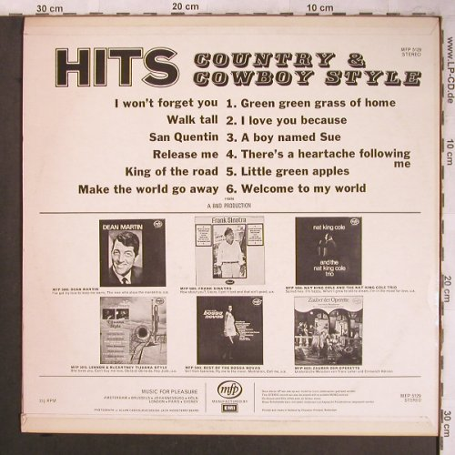 V.A.Hits Country & Western Style: I won't forget you..(Cover Version), MFP/EMI(MFP 5129), D,  - LP - X4532 - 5,50 Euro